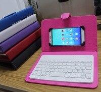 Telefon z klapką Case z Podstawą dla iPhone 8 7 6 6 s skóra Pokrywa z Klawiaturą Bluetooth do Telefonu Samsung Huawei Xiaomi Sony HTC