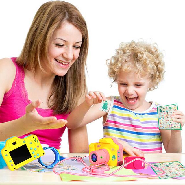 kebidu 1.77 Inch 16MP 1080P Mini LSR Cam Digital Camera for Kids Baby Cute Cartoon Toy Camera Children Birthday Best Gift