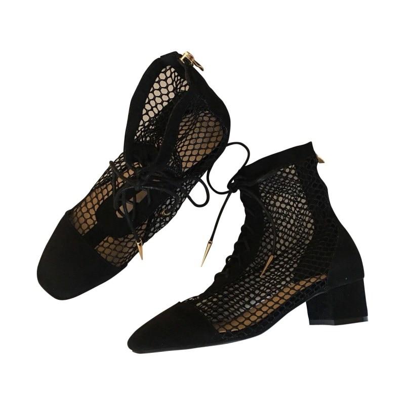 Mode Clair À Cristal Bout Haute Taille Plexiglas Sandales Bottes Femme Qualité Temps Cheville Ouvert Classique Pvc Noir Femmes Pompes Chaussures De Talons UBqn0