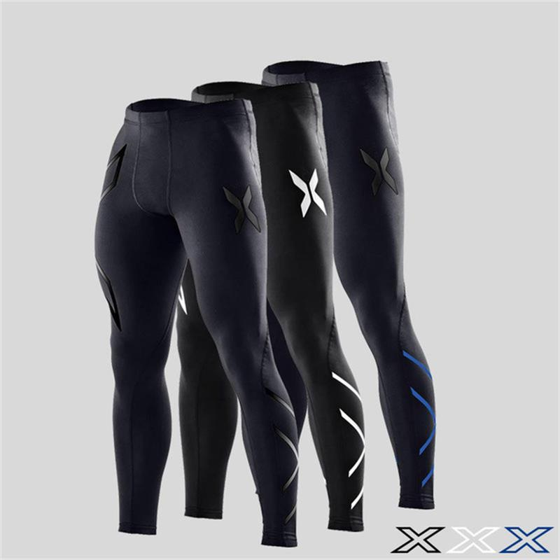d977b09f00 Crossfit Jogger Sports Leggings Fitness Men Running Tights Jog Elastic Pants