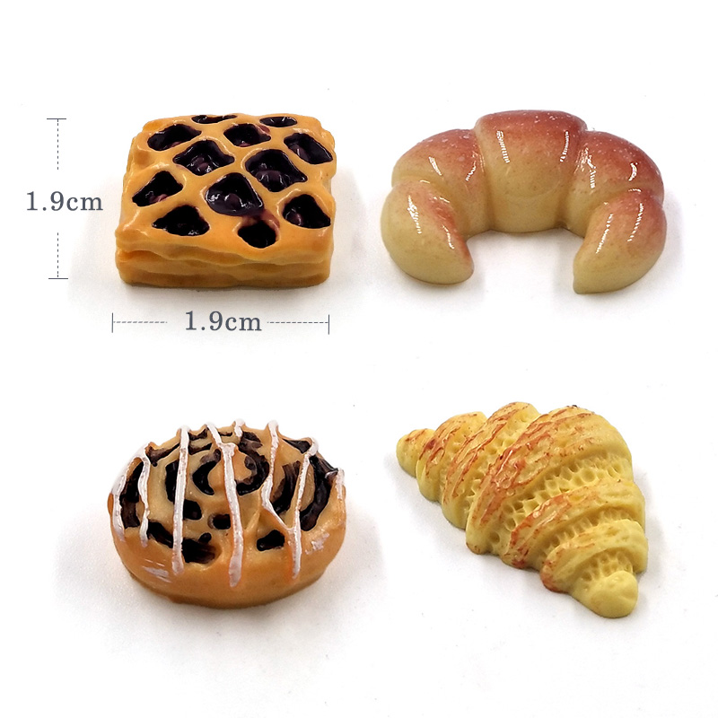 10pcs Simulation Food cake Bread Artificial Miniature Figurine DIY House Accessories Doll home Decoration plastic resin craft in Artificial Foods Vegetables from Home Garden