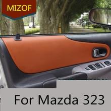 4 шт. Украшенные аксессуары из микрофибры кожаная внутренняя панель двери Крышка для Mazda 323 до 2009 AAB084