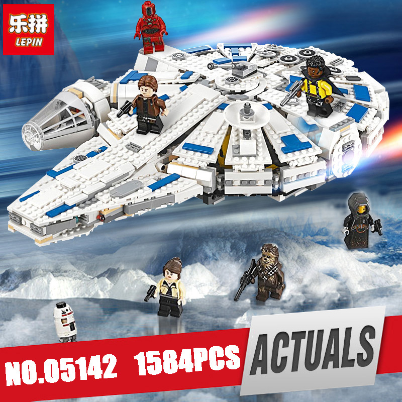 LEPIN 05142 Star Plan Series Building Blocks Wars Force Awakens Millennium Legoing 75212 Toy Falcon Model Kid Toy Christmas Gift dhl lepin 05142 star building blocks force toy awakens millennium kids toys falcon model legoings 75212 birthday christmas gifts
