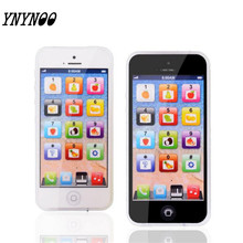 YNYNOO Baby YPhone Mobile Phone Educational Toy For Children Playmobil Gift Drop Shipping White Black