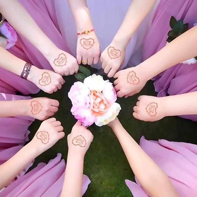 Team Bride Wedding Party Sticker