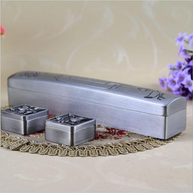 Rectangle Metal Certificate Graduation storage Box Baby Gift for ...