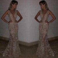 Night club elegant 2019 vestidos de festa women sexy dresses gold shiny sequin long evening maxi spring party dress party dress