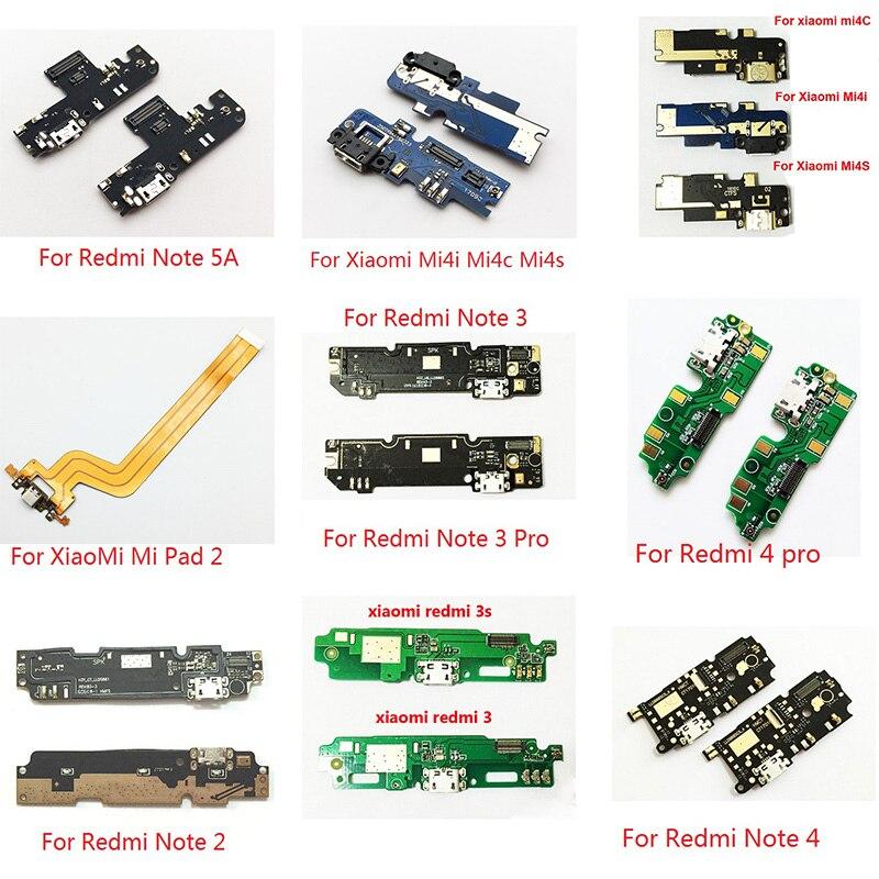 Charger Port USB Charging Dock Connector Board Flex Cable For Xiaomi Redmi Note 1S 2 2S 3 3S 4 Pro 5A Mi4i Mi4c Mi4s Max2 Repair