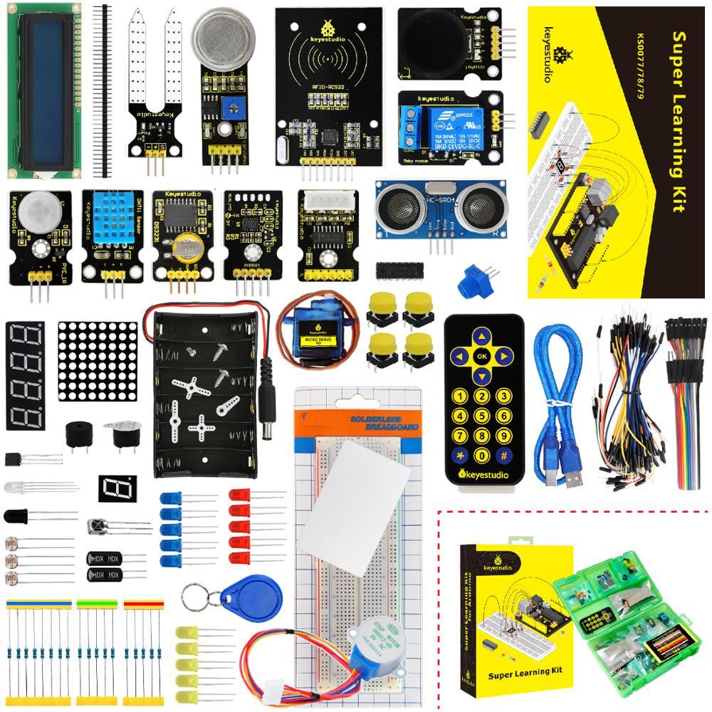 New Packing! Keyestudio Super Starter Learning Kit (NO UNOR3 Board) For Arduino Programming Education Kit + PDF