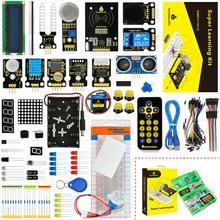 새로운 포장! Keyestudio arduino 프로그래밍 교육 키트 + pdf 용 슈퍼 스타터 학습 키트 (unor3 보드 없음)