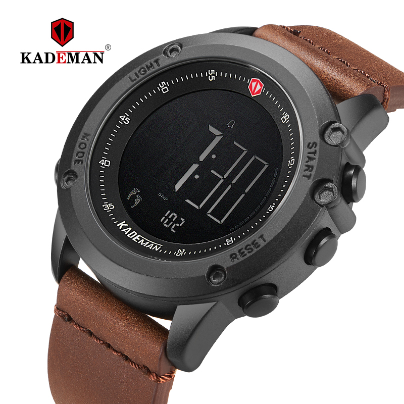 Special Pric Military Sports Men's Watch Digital Display Waterproof Leather Watch Men Luxury Brand LED Outdoor Male Wristwatches