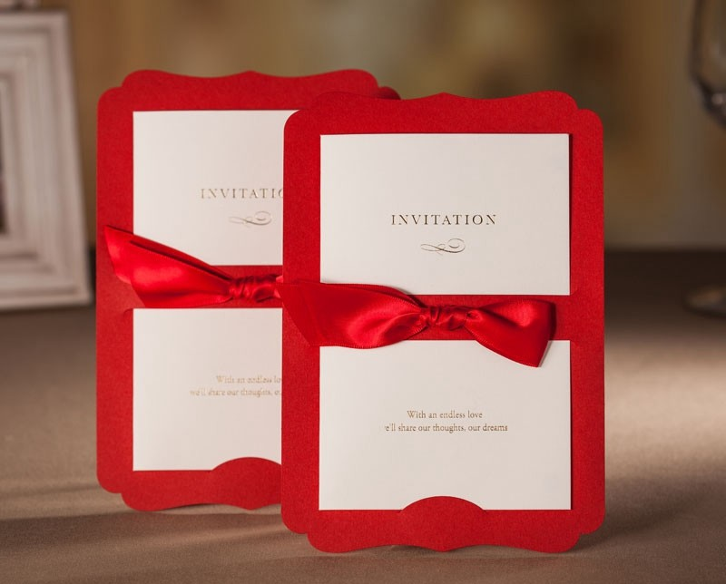 Online Get Cheap Print Custom Invitations Aliexpress – Cheap Red Wedding Invitations