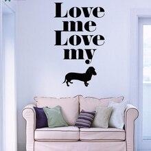 YOYOYU Vinyl Wall Decal Love Me Cute Pet Puppy Animal Interior Papel De Parede Para Quarto Decoration wall sticker FD126