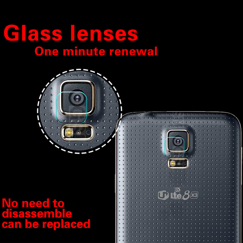 HD Back Camera Lens Tempered <font><b>Glass</b></font> Film For <font><b>Samsung</b></font> Galaxy S3 <font><b>S4</b></font> S5 <font><b>S4</b></font> <font><b>Mini</b></font> <font><b>glass</b></font> film for I9300 Rear Camera Lens Protector Film image