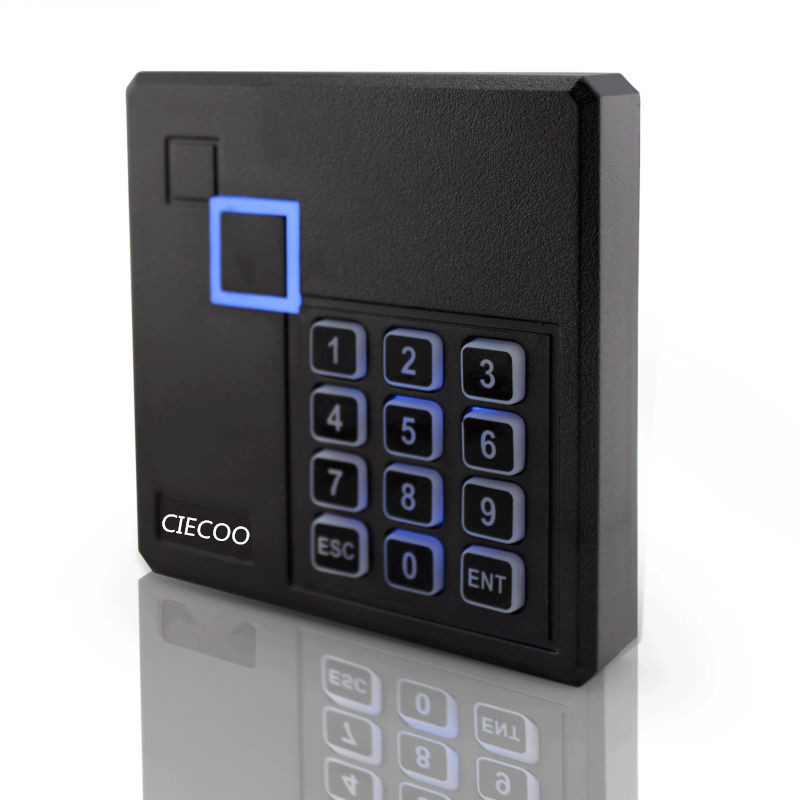 125KHz RFID Access Control Card Reader with Keypad single door access control system metal rfid em card reader ip68 waterproof metal standalone door lock access control system with keypad 2000 card users capacity