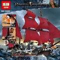 New LEPIN 16009 1151pcs Queen Anne's revenge Pirates of the Caribbean Building Blocks Set figures Compatible with Legoe 4195