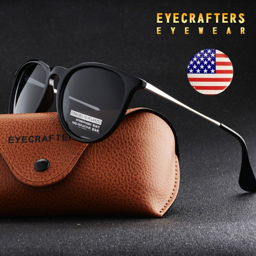 5f537e9f5f7 Eyecrafters Fashion Black Womens Sunglasses Polarized Cat Eye Shades ...