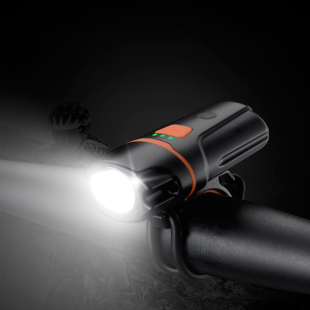 Bicycle Front Rechargeable Light Cycling Bike Flashlight Waterproof Headlight Bicycle Lamp Power Bank Bike Accessories