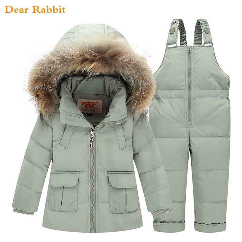 768323219 2018 Winter for Boys Coat Girls Ski Suit Children Clothing Set Baby ...