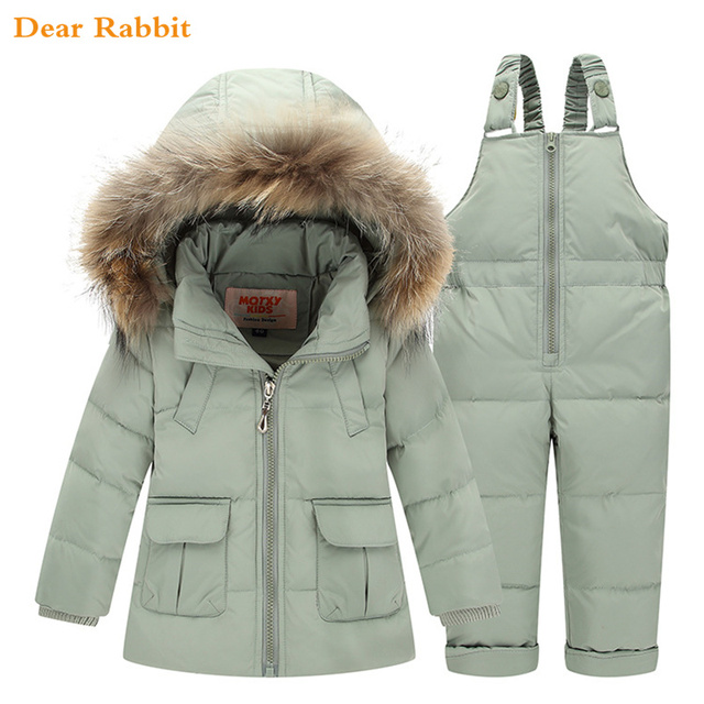 f020a5aed 2018 invierno para niños abrigo niñas traje de esquí niños ropa conjunto  bebé pato abajo chaqueta