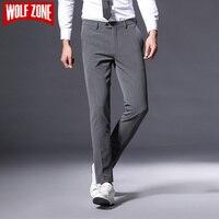 Vendita calda di Autunno Vestito di Pantaloni Da Uomo Business Casual Pantaloni di Abbigliamento di Marca Mens Lungo Rettilineo Cotone Maschio Regular Figura Intera