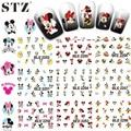STZ 1 Unidades 11 Diseños Tatuajes de Agua Nail Art Nails Pegatinas de Dibujos Animados Caliente de Las Mujeres Diseños Encantadora DIY Decoraciones BLE2248-2258