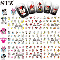 STZ 1set 11 Designs Hot Cartoon Water Decals Nail Art Nails Stickers Women Designs Lovely DIY Decorations BLE2248-2258