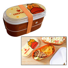 2 Layer Cartoon Kids Small Lunch Box Japanese Style Sandwich Salad School Leakproof Plastic Lunchbox Bento Lunch Box Accessories(China)