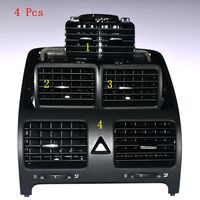 4 Pcs Dashboards centre air conditioning outlet vent kit for vw jetta golf rabbit 1KD819728 1KD819203 1KD819703 1KD819704