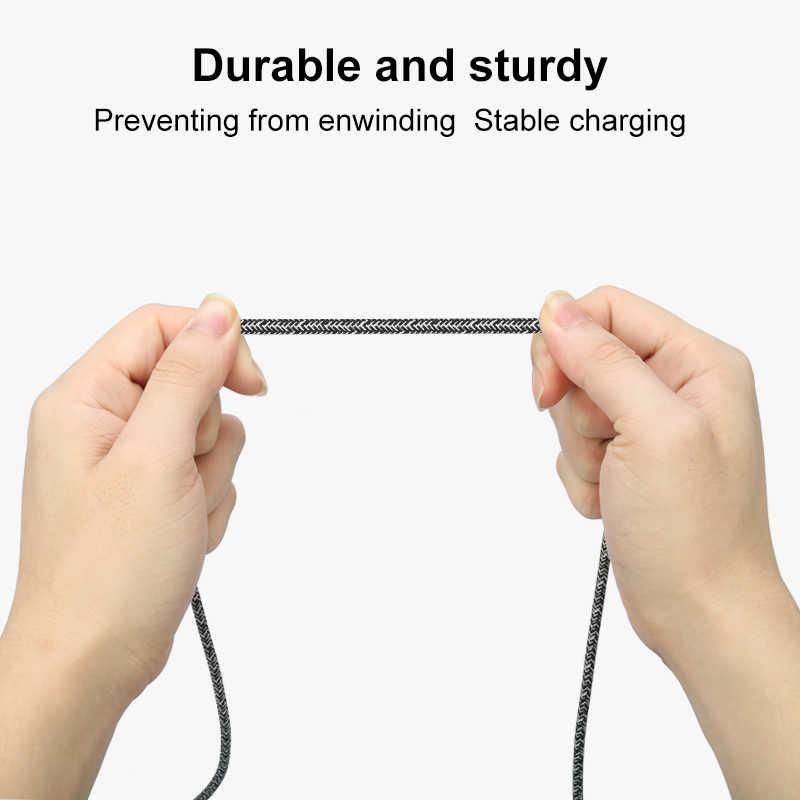 Coolreall データ同期転送充電ナイロンコードサムスンギャラクシー S9 S8 2.4A 急速充電 Usb タイプ C ケーブル s9 注 9