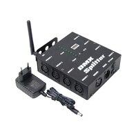 Amplificador de Distribuição de canais 8 Maneira DMX Splitter DMX512 8 DMX512 Receptor Sem Fio para Luz Do Estágio