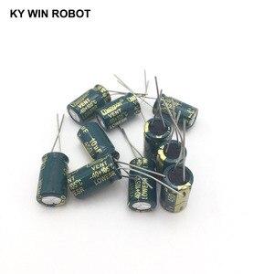 Image 2 - 10 adet Alüminyum elektrolitik kondansatör 10 uF 450 V 10*17mm frekuensi tinggi Radyal Elektrolitik kondansatör