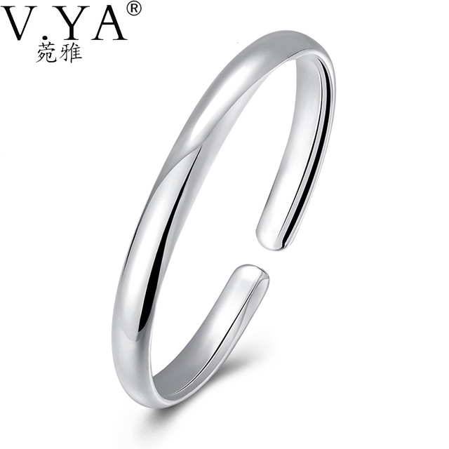 Adjustable Bangles for Women Jewelry S925 Solid Silver Bangle Open Size 100% Pure 925 Sterling Silver Top Quality