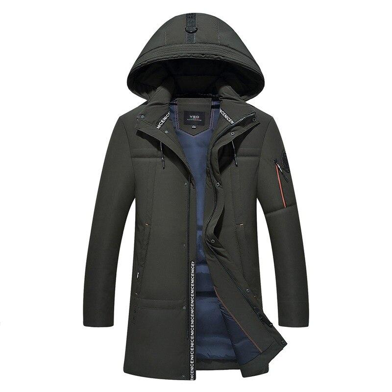 ef543d1062cd VSD новый 90% белая утка Пух качество красивый теплые длинные модные пальто зимняя  куртка Мужская