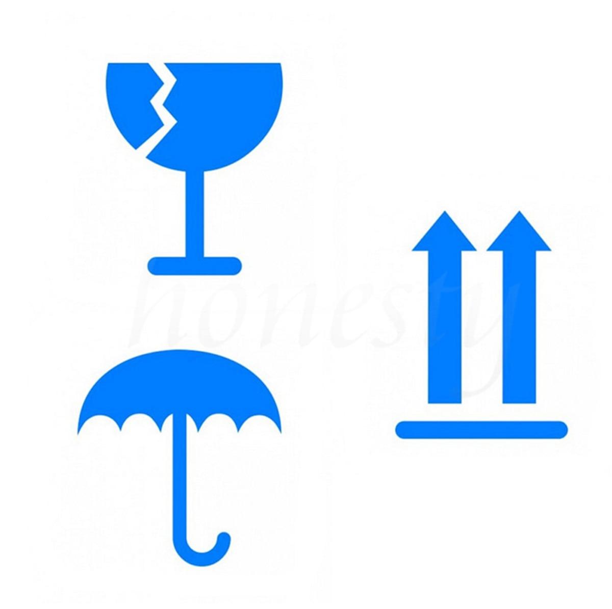 Предупреждение Логотип Знак Стикер Окна Дома Стены Стеклянные Двери Стикер Декор Подарок Автомобиль Этикеты Винила Синий