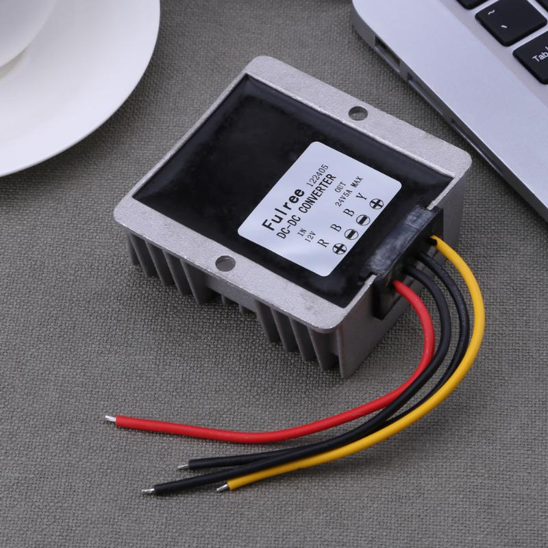 DC/DC 10-20V to 24V 5A Car Power Converter Voltage Regulator Power Supply Booster Module waterproof