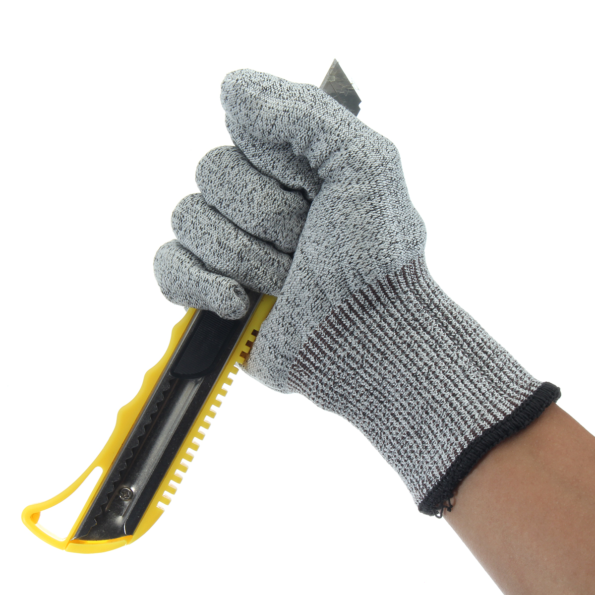 Safety Cut Proof Stab Resistant Stainless Steel Wire Metal Mesh Butcher Gloves Cut-Resistant Safety Gloves europe and the authentic proof cut glove cut against blade puncture proof black cloth gloves gloves category 5 wire page 8