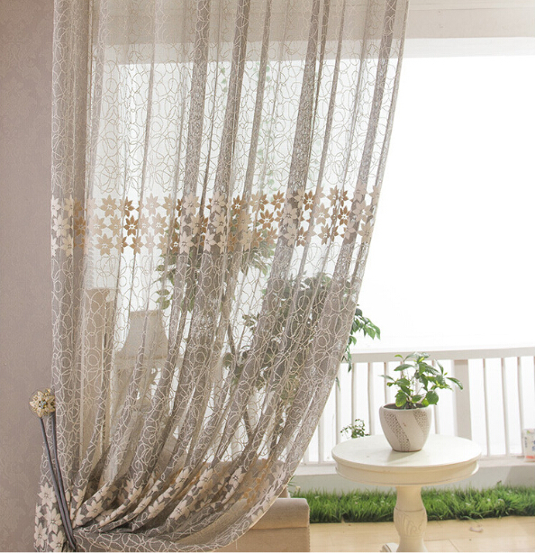 Luxury Curtains Summer Style Cortinas Para Sala De Estar Modern Curtain Living Room Cortina Light Brown Home Textile In From Garden On