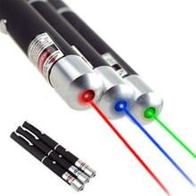 Güçlü Yeşil Kırmızı Mavi Menekşe Lazer işaretçi Kalem Görünür Işın Işık Lazer 5mw Işın Ray Lazer işaretçi Eğitmen kalem fener