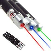 Mạnh mẽ Xanh Đỏ Xanh Tím Than Bút Chỉ Laser Bút Nhìn Thấy Tia Đèn Lazer 5 mW Chùm Tia Laser Máy Trợ Giảng Bút đèn pin