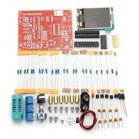 New Arrival DIY Mega328 Transistor Tester Kit Capacitance Inductance ESR Meter Diode Triode W8Y2 Lcd Module
