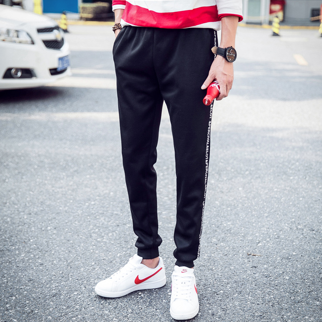 Nuevo 2016 Mens Joggers Pantalones Masculinos de Los Hombres Pantalones de Hombre Elástico de La Raya Mallas Pantalones Basculador Pantalones 5XL