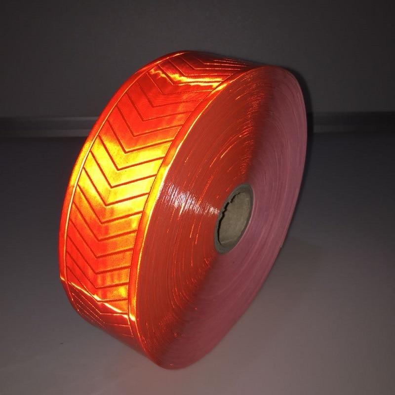 High Visibility Reflective Warning Fluorescent Orange PVC Tape Reflective Safety Vest Strips