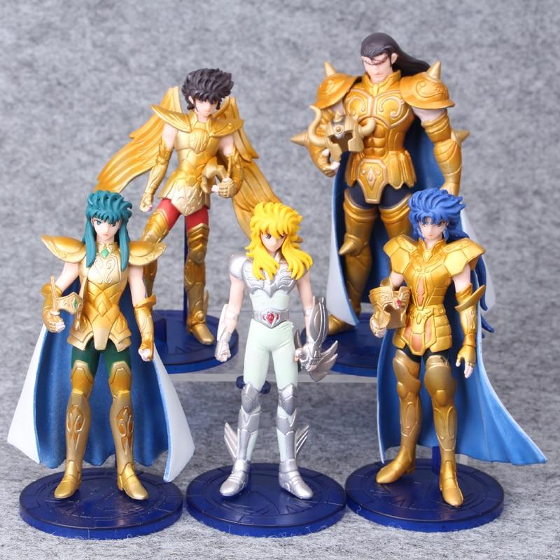 Anime Saint Seiya Myth Cloth <font><b>Knights</b></font> <font><b>of</b></font> <font><b>The</b></font> <font><b>Zodiac</b></font> <font><b>Pegasus</b></font> 5PCS/Set PVC <font><b>Action</b></font> <font><b>Figures</b></font> Dolls Toys