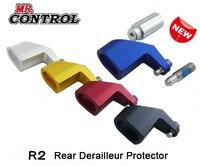Sr. controle r2 bicicleta traseira desviador guarda protetor de alumínio apto para 9mm qr liberação rápida peças da bicicleta para shimano sram