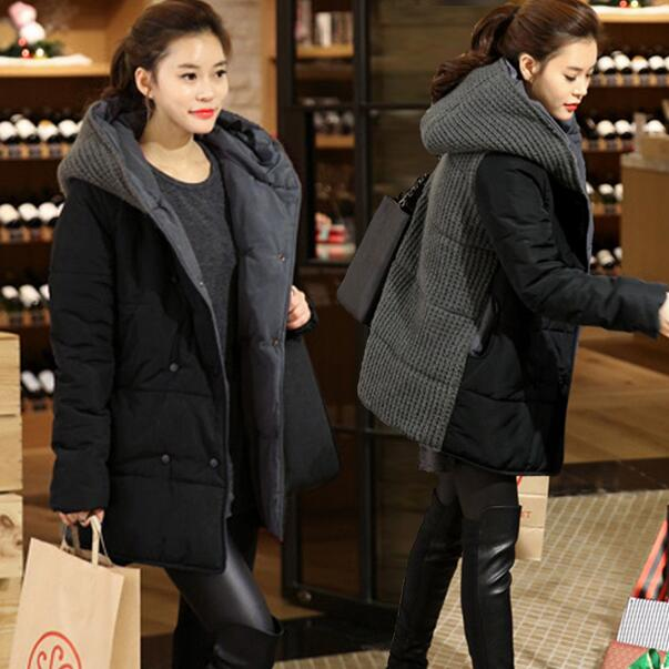 dbee76e8008 Oversized Coats Winter Jacket Women Hooded Wadded Padded Jacket Female Maxi  Coat Loose Plus Size Winter Coat DF562-in Basic Jackets from Women s  Clothing on ...