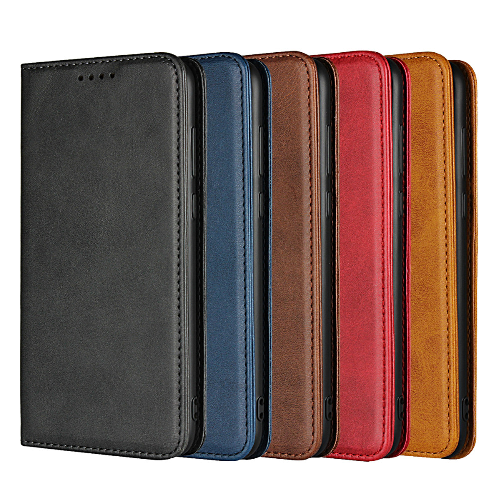 Etui Huawei P Smart Case Cover Leather Genuine For Huawei P Smart Cases Luxury Calf Grain Magnetic Flip Wallet Fundas Coque Bags
