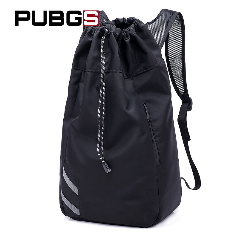 Mens Backpack School Bag Polyester High Capacity Casual Basketball Male Drawstring Solid Travel Backpack PUBGS 2018 New Arrival