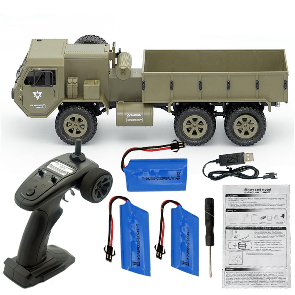 RCtown Fayee FY004A 1/16 2.4G 6WD Rc Car Proportional Control US Army Military Truck RTR Model Toys