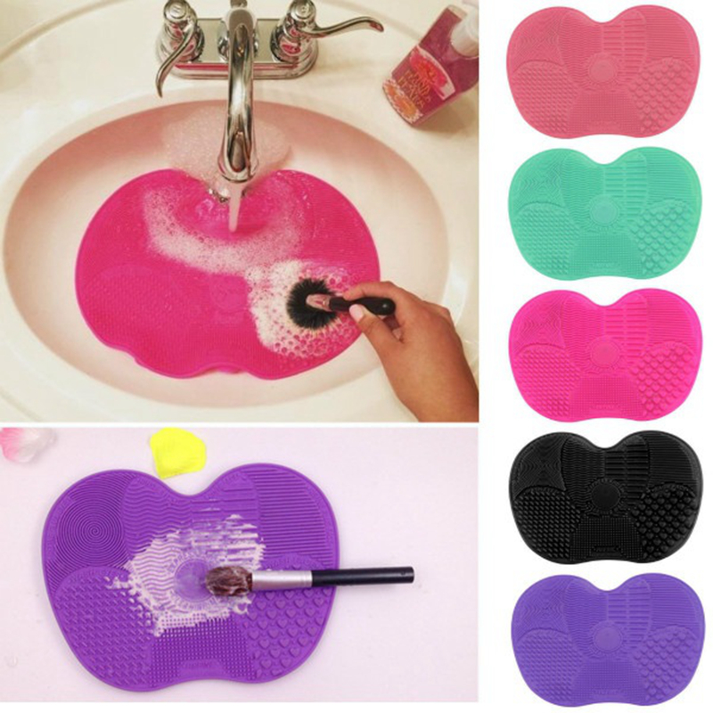 Newest Silicone brush cleaner Cosmetic Make Up Washing Brush Gel Cleaning Mat Foundation Makeup Brush Cleaner Pad Scrubbe Board 1pcs brushegg cleaning makeup washing silicone glove scrubber board 1pcs toothbrush powder brush cosmetic clean tools set